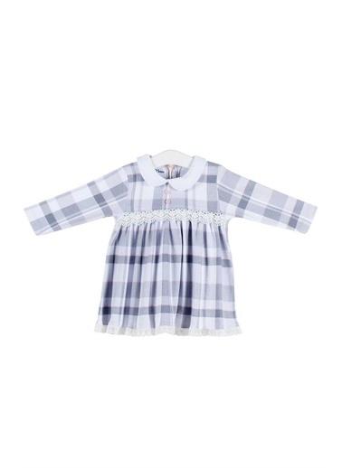 Aziz Bebe Aziz Bebe Kız Bebek Ekoseli Elbise 6-36 Ay AZZ052231 Renkli